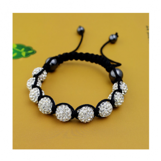 Bratara Shamballa Simple White
