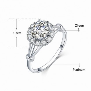 Inel zirconiu Royal Flower