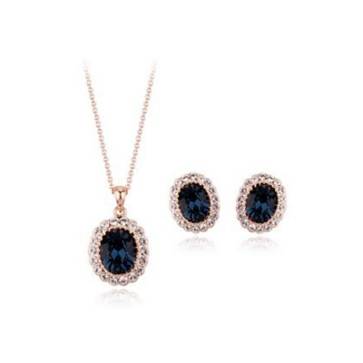 Set bijuterii Gold Blue Velvet