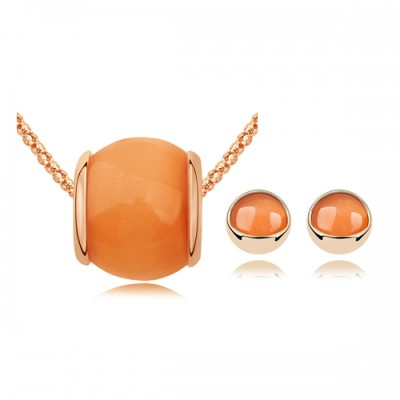 Set bijuterii Light Orange Stone