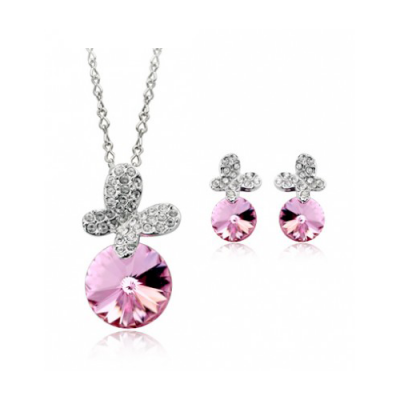 Set bijuterii Light Pink Butterfly