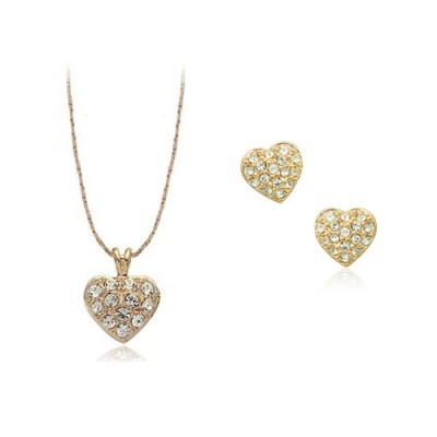 Set bijuterii Simple Gold Heart