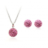 Set bijuterii Shamballa Indian Pink